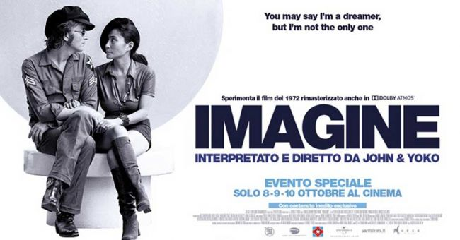 Imagine al cinema l'8, 9 e 10 Ottobre